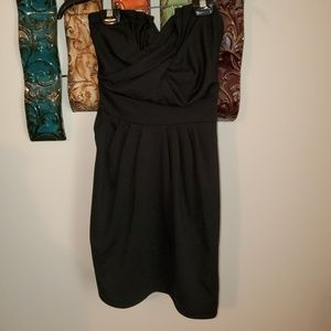 H&M Sz 6 Strapless Tight Black Cocktail Dress